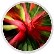 Exploding Lily Round Beach Towel