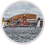 Extreme 40 At Cardiff Bay Round Beach Towel by Steve Purnell