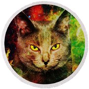 Eye Contact Round Beach Towel