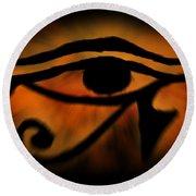Eye Of Horus Eye Of Ra Round Beach Towel