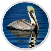 Eye Of Reflection Round Beach Towel