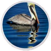 Eye Of Reflection Round Beach Towel by Karen Wiles