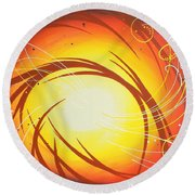 Eye Of The Hurricane Round Beach Towel