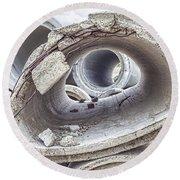 Eye Of The Saur Round Beach Towel