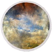 Eye Of The Storm  - Abstract Realism Round Beach Towel