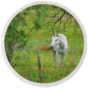 Eye On Beauty Round Beach Towel by Lynn Bauer