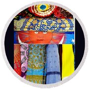 Round Beach Towel featuring the photograph New Orleans Eye See Fabric In Lifestyles by Michael Hoard