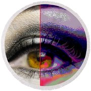 Eye Transformed Round Beach Towel