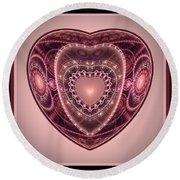 Faberge Heart Round Beach Towel