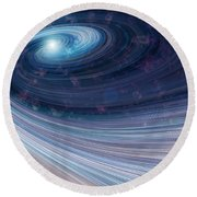 Fabric Of Space Round Beach Towel