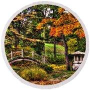 Fabyan Japanese Gardens I Round Beach Towel