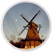 Fabyan Windmill Round Beach Towel by Ely Arsha
