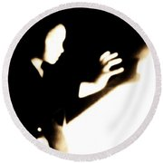 Round Beach Towel featuring the photograph Faceless Magician  by Jessica Shelton