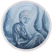 Round Beach Towel featuring the painting Fade Away by Michael  TMAD Finney