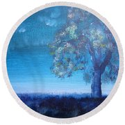 Fading Light Round Beach Towel by Laurianna Taylor