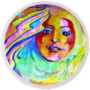 Round Beach Towel featuring the drawing Faerie Princess by Leanne Seymour