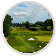 Fairways Greens Round Beach Towel