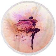 Fairy Dance Round Beach Towel by Lilia D
