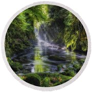 Fairy Glen Round Beach Towel