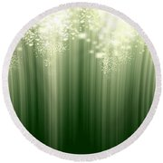 Fairy Grass Round Beach Towel