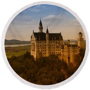 Fairy Tale Castle Round Beach Towel