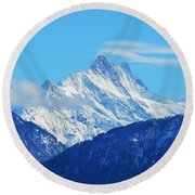 Fairy Tale In Alps Round Beach Towel