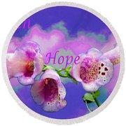 Faith-hope-love Round Beach Towel