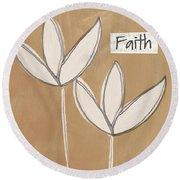 Faith Round Beach Towel