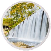 Fall At Buck Creek Round Beach Towel by Parker Cunningham