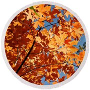 Fall Colors 2 Round Beach Towel