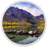Fall Colors At Convict Lake  Round Beach Towel
