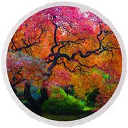 Fall Crowning Glory  Round Beach Towel by Patricia Babbitt