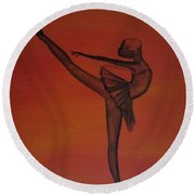 Fall Dancer 1 Round Beach Towel by Laurianna Taylor