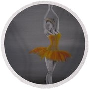 Fall Dancer 2 Round Beach Towel by Laurianna Taylor