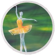 Fall Dancer 3 Round Beach Towel by Laurianna Taylor