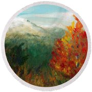 Fall Day Too Round Beach Towel