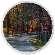 Fall Drive In Tennessee  1 Round Beach Towel