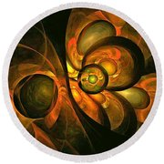 Fall Equinox Round Beach Towel