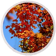 Fall Foliage Colors 15 Round Beach Towel