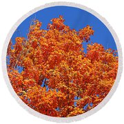 Fall Foliage Colors 19 Round Beach Towel