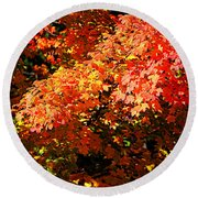 Fall Foliage Colors 21 Round Beach Towel