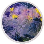 Fall Frost Dancing Round Beach Towel