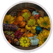 Fall Has Arrived Round Beach Towel