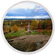 Fall In Gettysburg Round Beach Towel