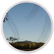 Fall In The Adirondacks Round Beach Towel