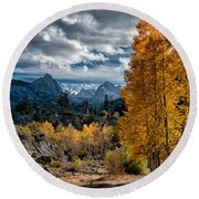 Fall In The Eastern Sierra Round Beach Towel