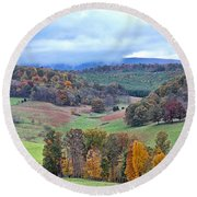 Fall In Virginia Round Beach Towel