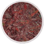 Round Beach Towel featuring the photograph Fall Leaves by Mini Arora