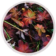 Fall Mix Round Beach Towel