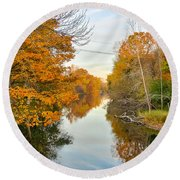Fall On The Red Cedar  Round Beach Towel